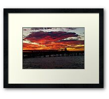 Wallaroo jetty sunset Framed Print