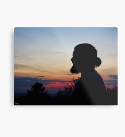Ben's Silhouette Metal Print