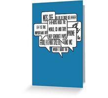 Mos Def Universal Magnetic classic 1990s Hip Hop lyrics  Greeting Card