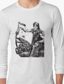 Daryl on his motorcycle Long Sleeve T-Shirt