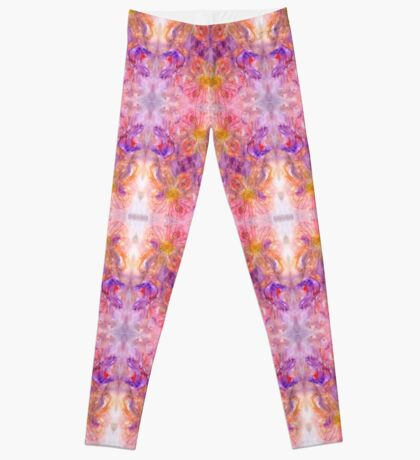 Blured Flowers Pattern Design Leggings
