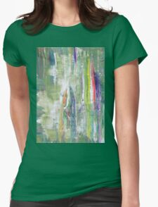 Fairy Tale about Forest - Original Wall Modern Abstract Art Painting Womens Fitted T-Shirt