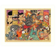 one piece kabuki japanese Art Print