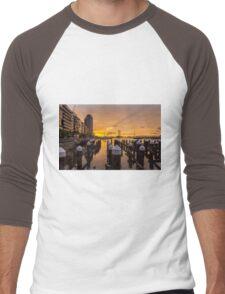 Docklands Sunset Men's Baseball ¾ T-Shirt