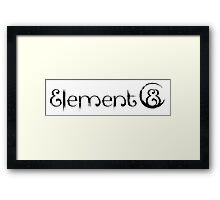 Element 8 - Black Framed Print