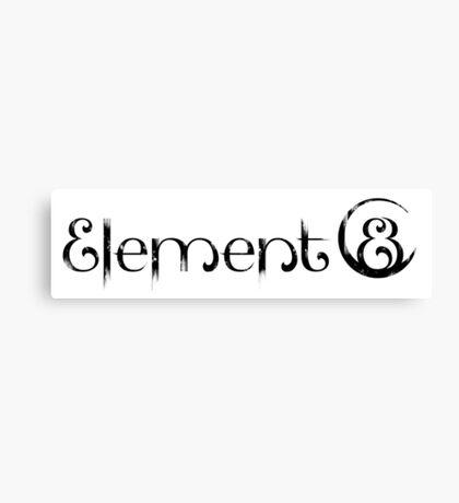 Element 8 - Black Canvas Print