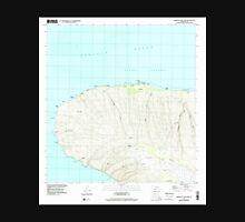 USGS TOPO Map Hawaii HI Garden Of The Gods 349226 1991 24000 Unisex T-Shirt