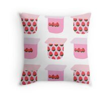 Strawberry Yogurt Throw Pillow