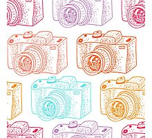 Colored cameras  Photographic Print