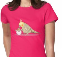 Mummy and Me Cockatiel Womens Fitted T-Shirt