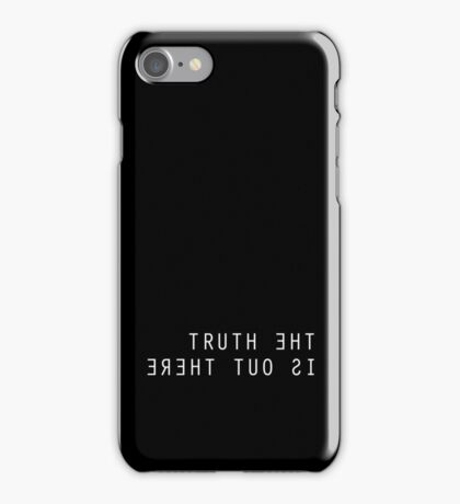 The X Files The Truth Is Out There Black iPhone Case/Skin