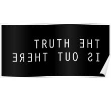 The X Files The Truth Is Out There Black Poster