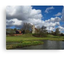Puffy White Clouds, Aldham, Suffolk Canvas Print