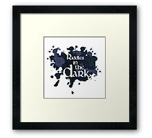 Riddles in the Dark Framed Print
