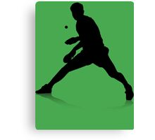 Table Tennis Player Canvas Print