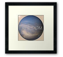 FREEDOM Sphere - NATURAL  Framed Print