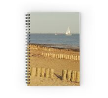 Lepe Beach and Sailing Boats Spiral Notebook