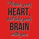 Follow your heart, but take your brain with you. by echovolution