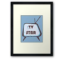 TV Star Retro television set Framed Print