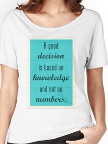 Plato Quote 002 Women's Relaxed Fit T-Shirt