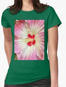Orchid in Pink and White Womens Fitted T-Shirt