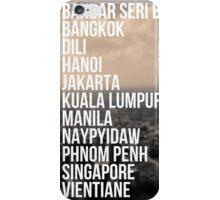 Southeast Asia Capital Cities iPhone Case/Skin