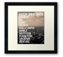 Southeast Asia Capital Cities Framed Print