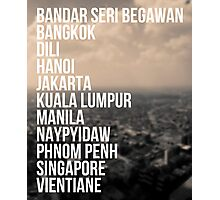 Southeast Asia Capital Cities Photographic Print
