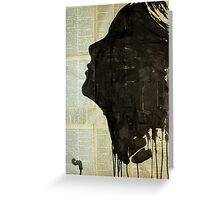 The female silhouette .  Greeting Card
