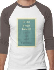 Plato Quote 003 Men's Baseball ¾ T-Shirt