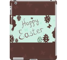 a happy Easter with bunnies,vector illustration iPad Case/Skin