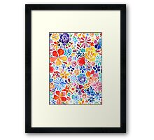 Watercolor Floral Framed Print