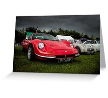 Vintage Red Sports car Greeting Card