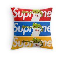 Supreme Kermit Throw Pillow