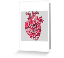 Human Heart: Colors and Doodles Greeting Card