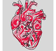 Human Heart: Colors and Doodles Photographic Print