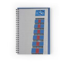 blue clock tower Spiral Notebook