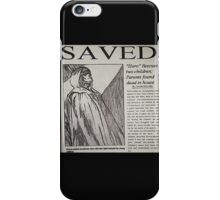 Unbreakable newspaper article iPhone Case/Skin