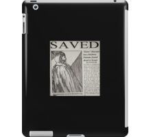 Unbreakable newspaper article iPad Case/Skin