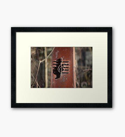 rusty treble clef Framed Print