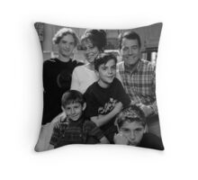 Malcolm in the Middle B&W photo Throw Pillow