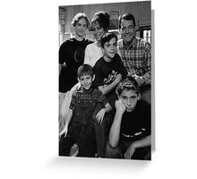 Malcolm in the Middle B&W photo Greeting Card