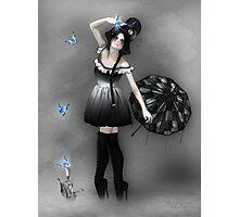Blauer Schmetterling Photographic Print