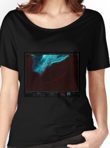 USGS TOPO Map Hawaii HI Hawaii South 349924 1961 250000 Inverted Women's Relaxed Fit T-Shirt