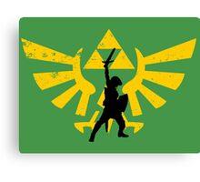 The power of three (Legend of Zelda) Canvas Print