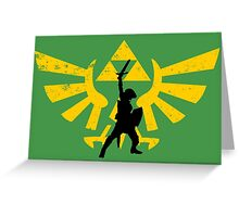 The power of three (Legend of Zelda) Greeting Card