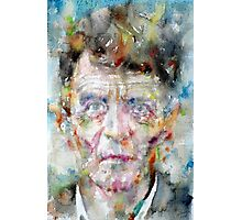 LUDWIG WITTGENSTEIN - watercolor portrait.2 Photographic Print