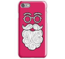 Hipster Pink Santa iPhone Case/Skin