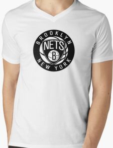 Brooklyn Nets Logo nba new york Mens V-Neck T-Shirt