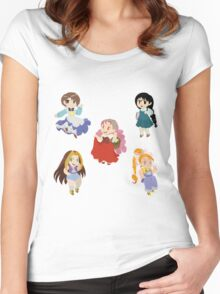Harvest Moon Girls Women's Fitted Scoop T-Shirt